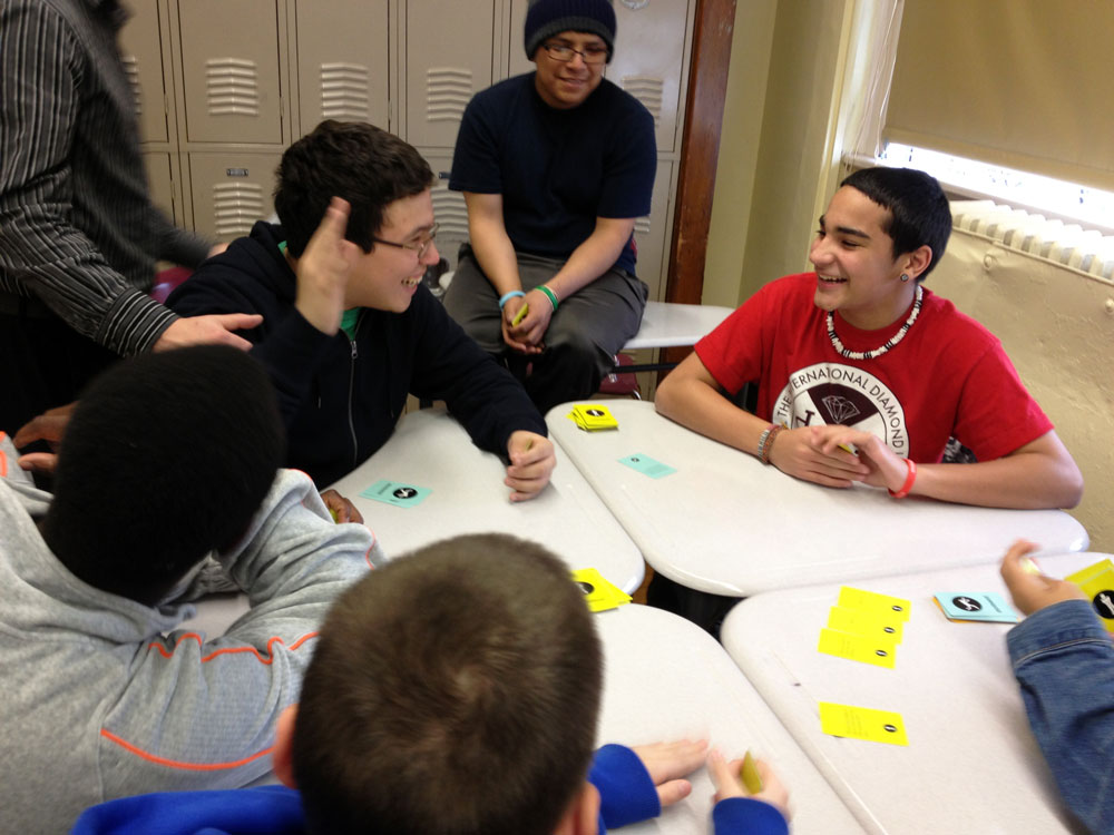 awkward moment - game play with high school students