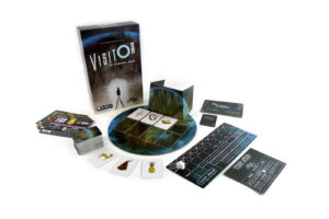 VISITOR in Blackwood Grove - Game box and components